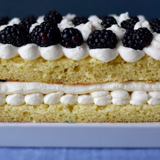 Lemon and Blackberry Cake with Mascarpone.