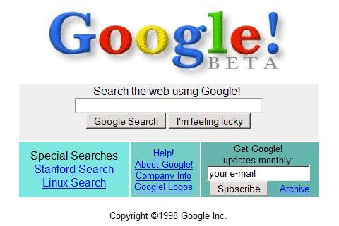 google.com in 1998