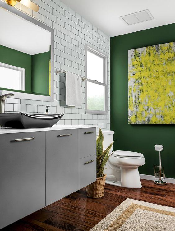 green and white bathroom ideas colour