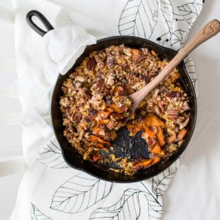 Autumn Sweet Potato & Carrot Crumble