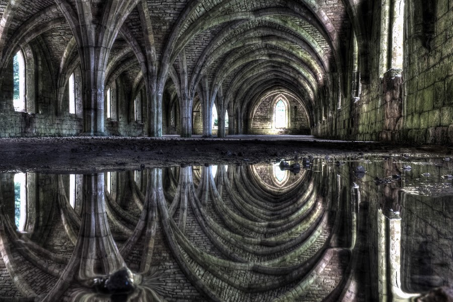 refectory reflected II by Keith Britton - Buildings & Architecture Public & Historical