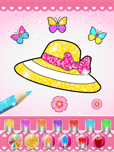 Glitter beauty coloring and drawing screenshot 12
