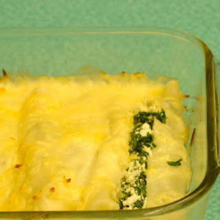 Spinach and Cottage Cheese Canneloni