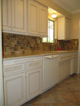 Photo: CABINET REFACING Kitchen Tune-Up THOUSAND OAKS . When you are on a budget, our redooring process can leave money to spare to install a tile backsplash and a solid surface countertop. The cabinets can be done in 1-2 days time.Financing Available.