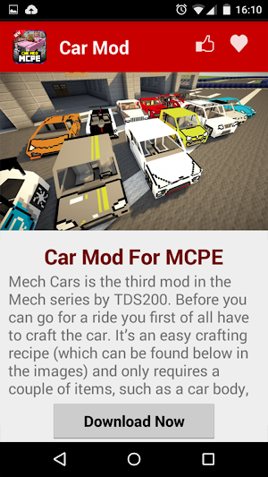 1 Car MOD For MCPE! App screenshot
