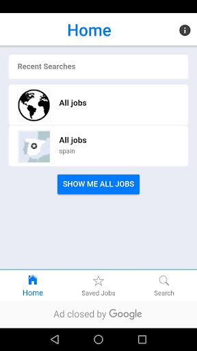 Screenshot for Jobs4Dev in United States Play Store