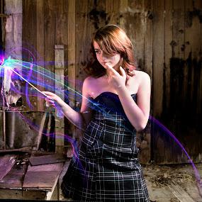 Sammy by Trent Sluiter - Digital Art People ( canon, strobist, pixoto, harry potter, fedora media, magic, 7d, sammy, farewell, witch, warlock, trent sluiter, abandoned )