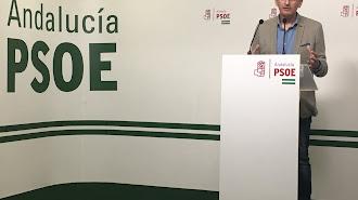 Sánchez Teruel, esta mañana en la sede del PSOE.