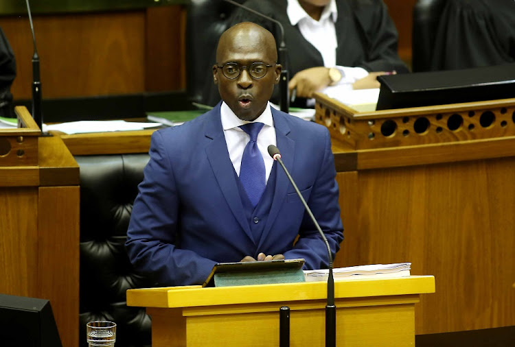 Finance Minister Malusi Gigaba during his medium-term Budget speech in parliament in Cape Town.