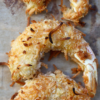 Baked Coconut Shrimp with Spicy Honey Drizzle