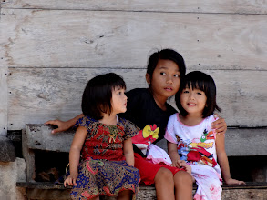 Photo: Dear Indonesian children watching for the bride and groom to come forth