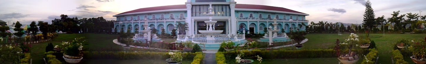 Photo: My attempt to take a panorama photo of the hotel.