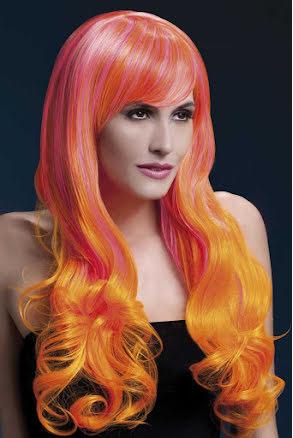 Peruk, Emily rosa orange