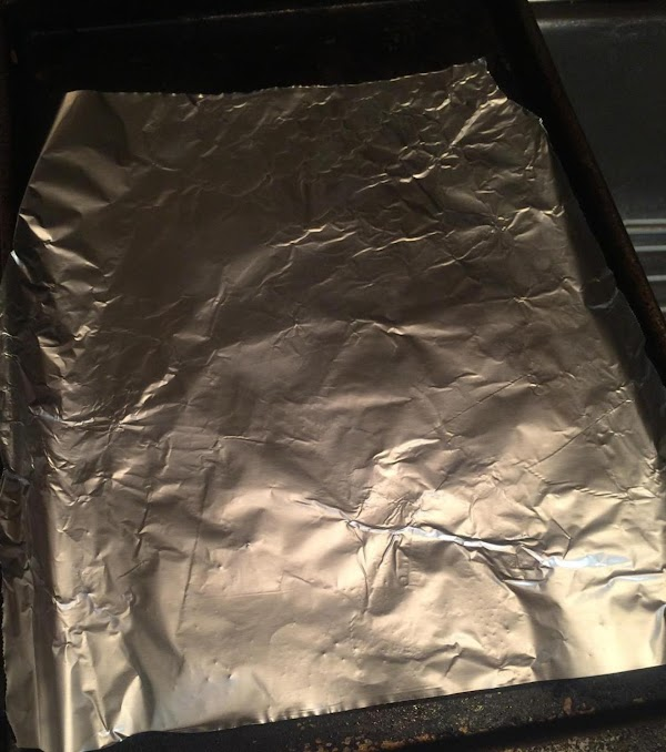 Get a pastry pan and some aluminum foil on top and put in oven...