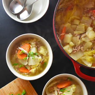 Pork and Napa Cabbage Soup.