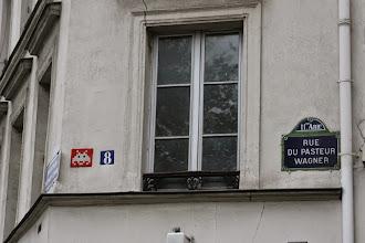 Photo: Street art - Miss Tic -Paris XIe - rue du pasteur Wagner