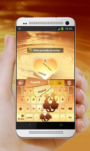 小鷹愛橙色 GO Keyboard