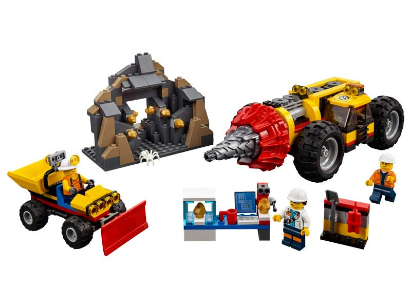Contenido de Lego® 60186 Mina: Perforadora Pesada