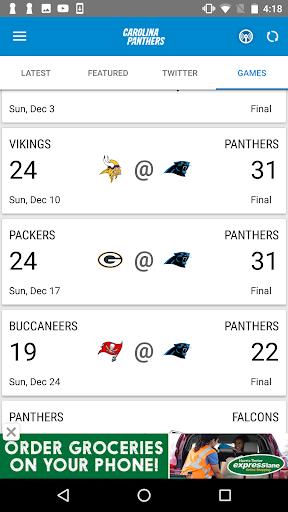 Carolina Panthers Mobile screenshot