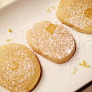 Shortbread Cookies with a Lemon Glaze