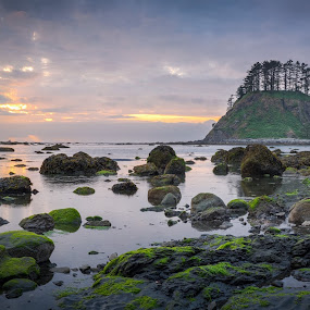 Eventide at the Cape by Patrick Miyoshi - Landscapes Beaches ( oceanscape sunset eventide lowtide lowtide clouds landscape,  )