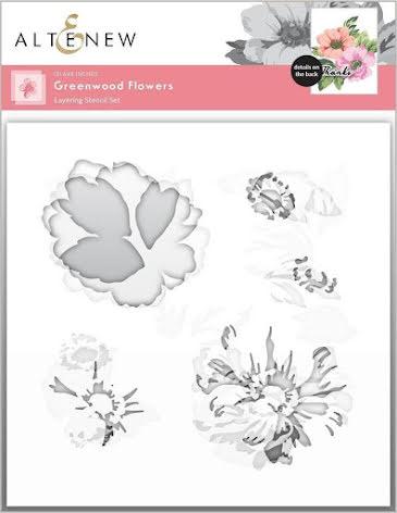 Altenew Stencil 6X6 3/Pkg - Greenwood Flowers