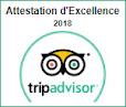 Le Clos de la Garenne Attestation d'Excellence 2018 Tripadvisor