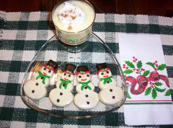 Eggnog Snowmen Cookies Recipe