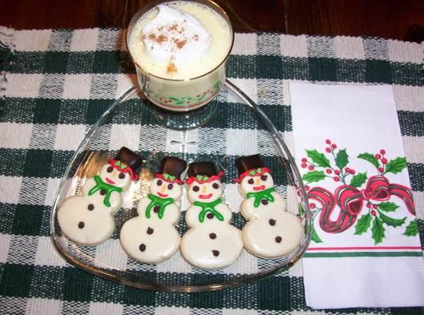 Eggnog Snowmen Cookies