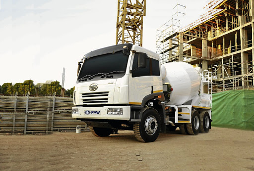 A FAW 33.330 FC concrete mixer in operation. Picture: SUPPLIED