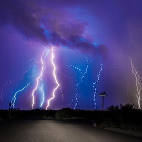 Peaceful Glen by Ed Mullins - Landscapes Weather ( lightning )