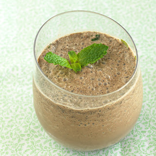Double Chocolate Mint Smoothie.