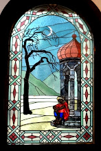 """Photo: Glas in lood raam in de hal van Villa """"Shatterhand"""""""