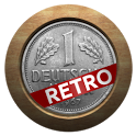Retro currency converter icon