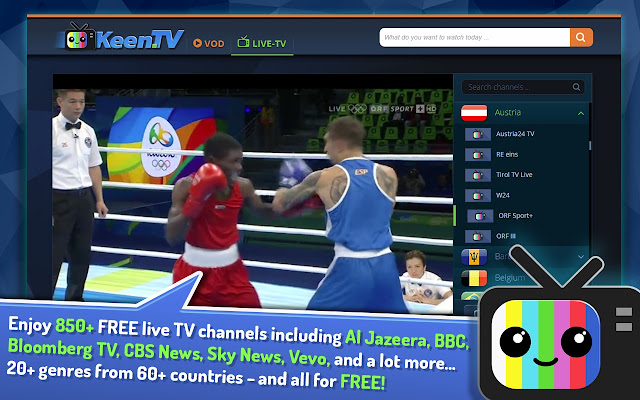 KEEN TV Web Media Center - Live TV and VOD