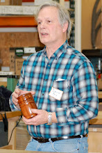 Photo: David also talked about the fit and about working with eucalyptus wood.