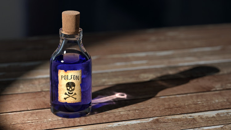 Generic image of a bottle containing poison.