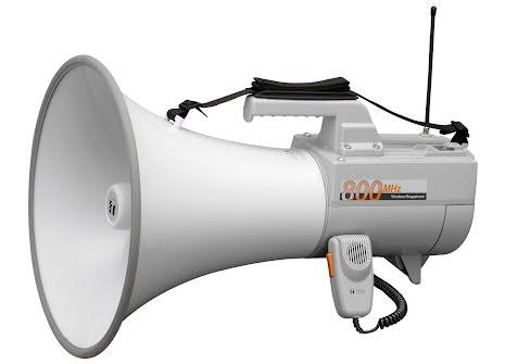 TOA ER-2930W   Megafon med axelrem 30 Watt med mikrofon och vissel funktion, 2 ingångar