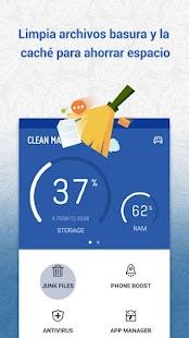 Clean Master-Liberar Ram,Limpiar Espacio&Antivirus Screenshot