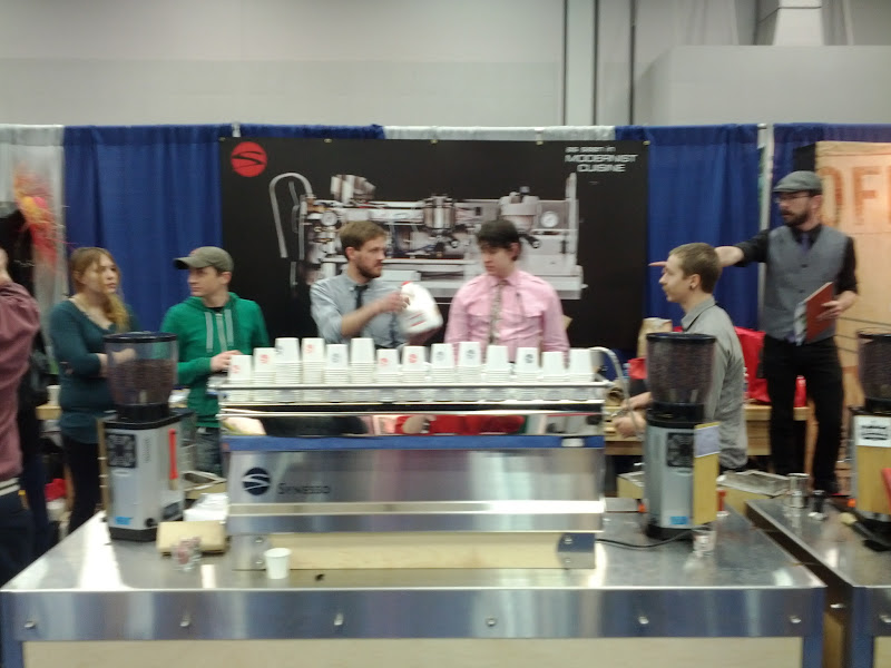 Photo: Impropmtu latte art throwdown happened in our booth