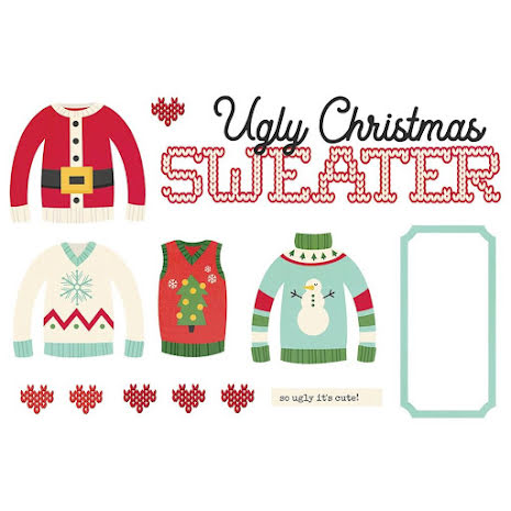 Simple Stories Simple Page Pieces - Ugly Christmas Sweater
