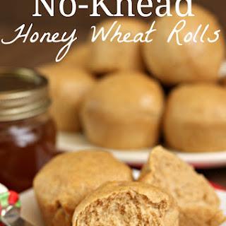No-Knead Honey Wheat Rolls