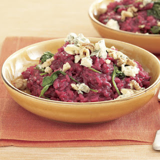 Beet and Walnut Risotto