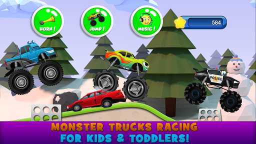 モンスタートラックの子供のゲーム