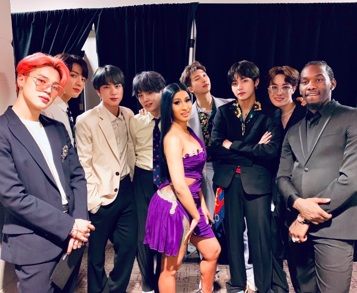 BTS, Cardi B and Offset