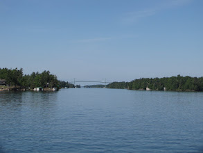Photo: The bridge from Canada we crossed on bikes earlier today