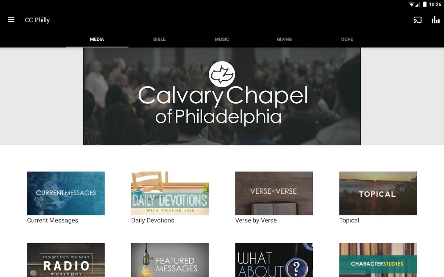 Calvary Chapel of Philadelphia- screenshot