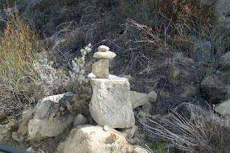 Photo: Cairn by the road.