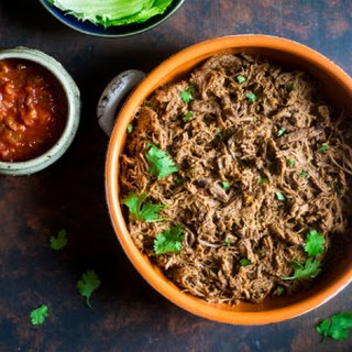 Paleo Pumpkin Salsa Shredded Slow Cooker Roast Beef
