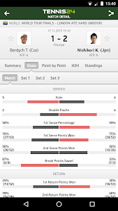 Tennis 24 - tennis live scores screenshot 1